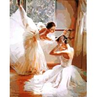 Две балерины. Картина по номерам 40х50