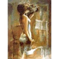Девушка со скрипкой. Картина по номерам 40х50