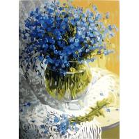 Ваза с цветами. Картина по номерам 40х50