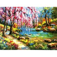 Весенний пейзаж. Картина по номерам 40х50