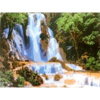 Красивый водопад. Картина по номерам 40х50