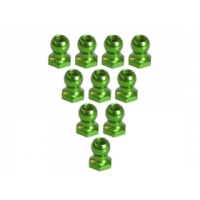 4.8MM Hex Ball Stud L=5 (10 pcs) - Green