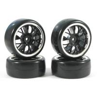 Колеса дрифт 1/10 - Fastrax Y-Spoke (V2 Tyre) 4шт - Chrome