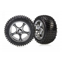 Tires &amp wheels, assembled (Tracer 2.2&#039&#039 chrome wheels, Alias 2.2&#039&#039 tires) (2