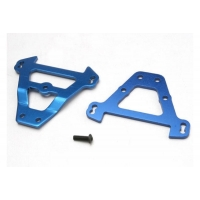 Bulkhead tie bars, front &amp rear (blue-anodized aluminum)