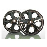 Wheels, All-Star 2.8'' (black chrome) (nitro rear/ electric front) (2)