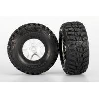 Tires & wheels, assembled, glued (S1 ultra-solft off-road racing compound) (SCT Split-Spoke satin c