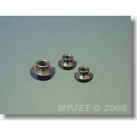 Гайка шестигранная врезная M4, сталь, никелевое покрытие, MPJet, 4шт.