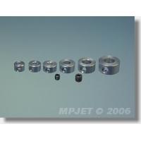 Стопорная шайба крепления колеса O2.5мм, латунь, никелевое покрытие, MPJet, 4шт.