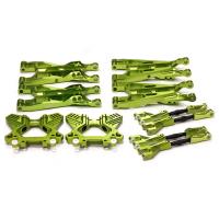 Комплект рычагов верх (4шт) и низ (4шт) + две бабочки (зелен) для Savage Flux X 4.6 2011 & Savage XL
