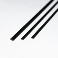 Карбон (уголь+стекло) пластина, 1000ммх3ммх0,8мм, черный, 1шт.