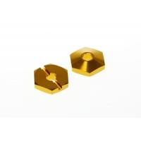 Колесные хексы 15мм Team Durango (золотые)
