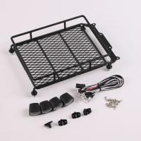Багажник на крышу с LED 4шт (черный)