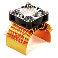 Радиатор с куллером (оранж) для 750 двигателя Traxxas Summit & Revo