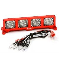 Подсветка LED (4) на крышу (красн-черн) для моделей 1/10, 1/8, 1/5