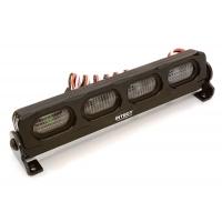 Подсветка LED на крышу (черная) 107х19х25мм для 1/10 краулеров