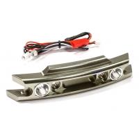 Передний бампер с LED фарами (оруж) Traxxas 1/10 Revo 3.3 & E-Revo