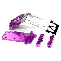 Защита днища задняя (фиолет) для HPI 1/12 Savage XS Flux