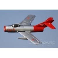 Модель самолета FreeWing MiG-15 PNP (серебристо-красный)