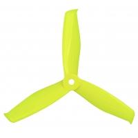 Пропеллер Gemfan Hulkie 5055 3-х лопастной (Lemon Yellow) 2 пары