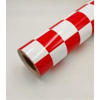 Пленка для обтяжки моделей HY клетка красно-белая (крупная)
