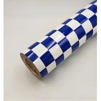 Пленка для обтяжки моделей HY клетка сине-белая
