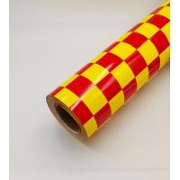Пленка для обтяжки моделей HY клетка красно-желтая