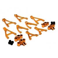 Комплект алюм. рычагов и кулаков (оранжевый) для Traxxas 1/16 Slash VXL и Rally