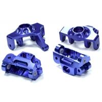 Комплект рулевых кулаков и кастер блоков (синий) для HPI 1/12 Savage XS Flux