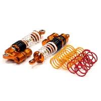 Амортизаторы передние (оранж) для Traxxas 1/10 Slash (все версии) и Stampede 4x4 (длина 93мм)