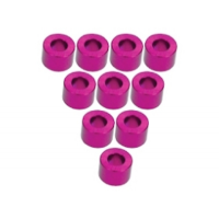 Aluminium M3 Flat Washer 4.0mm (10 Pcs) - Pink