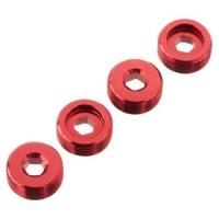 ALUMINIUM FRONT HUB NUT (Red) (4pc)