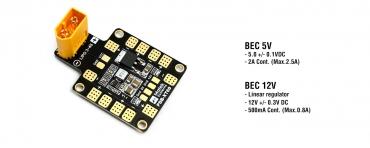 Плата Matek PDB-XT60 w/ BEC 5V & 12V