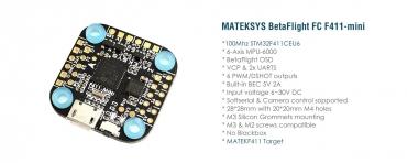 Полетный контроллер MATEKSYS F411-mini