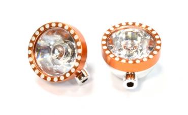 Realistic Plastic Housing for 5mm LED (2) Light 1/10 Off-Road (orange)