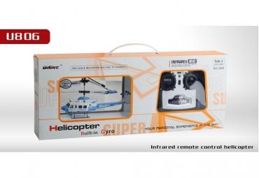 Вертолет Udi U806 3-кан с гироскопом