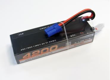 Аккумулятор LiPo Bonka 4200мАч 45C 7.4V (жесткий кейс)