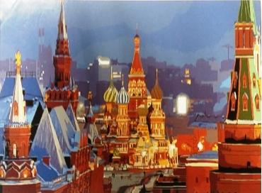 Кремль. Картина по номерам 40х50