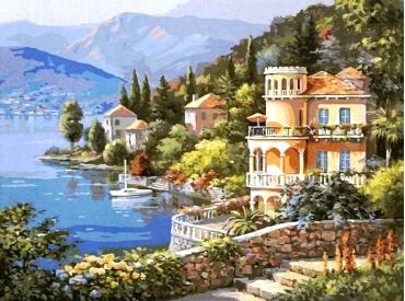 Красивый пейзаж. Картина по номерам 40х50