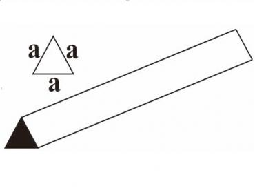Профиль треугольный (равносторонний) бальза 15х1000мм