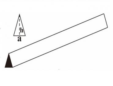 Профиль треугольный бальза 10х20х1000мм (AxHxL)