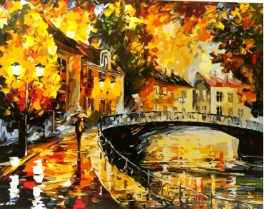 Картина по номерам Осень 40х50