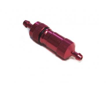 Топливный фильтр 13x5x50мм красный