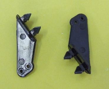 Кабанчик micro тип 2, пластик, отверстие O0.8мм, черный, MPJet, 2шт.