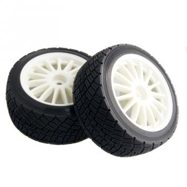 Комплект колес для ралли 1/9 2шт (белый)