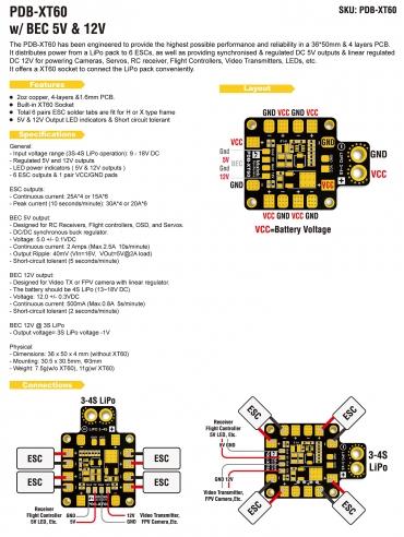 Manual Matek PDB-XT60 w/ BEC 5V & 12V